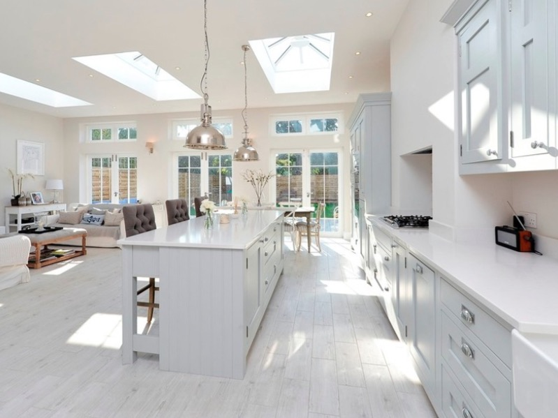 White Kitchen Floor Ideas