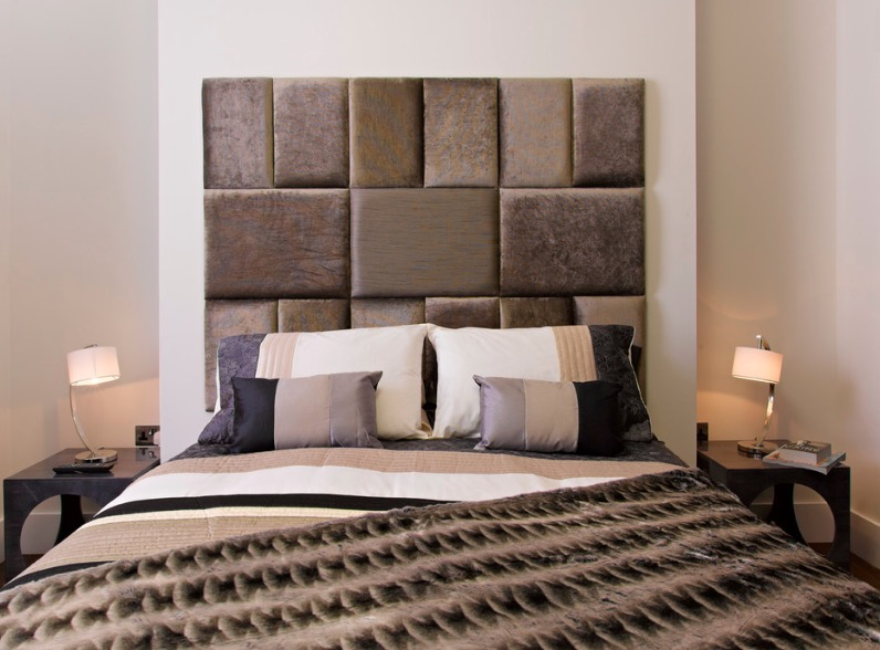 Fabric Mosaic Headboard