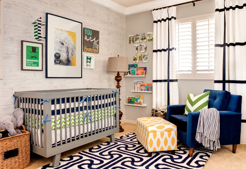 Baby Bedroom Accessories Utilize Bold Colors and Patterns