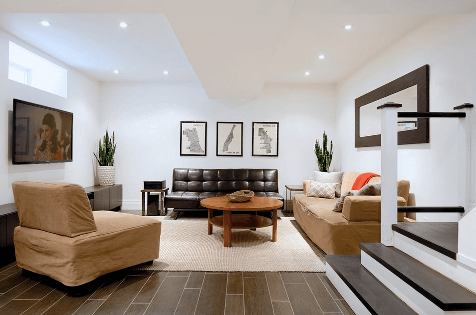 15 Modern And Contemporary Living Room Basement Designs | Basements, Living  Rooms And Contemporary
