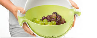 Gravity Bowl and Colander Set For Modern Kitchens:Spin & Drain