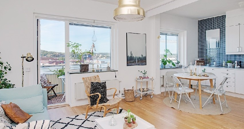 Calmness and Well Being Inspired by One-Room Apartment in Gothenburg
