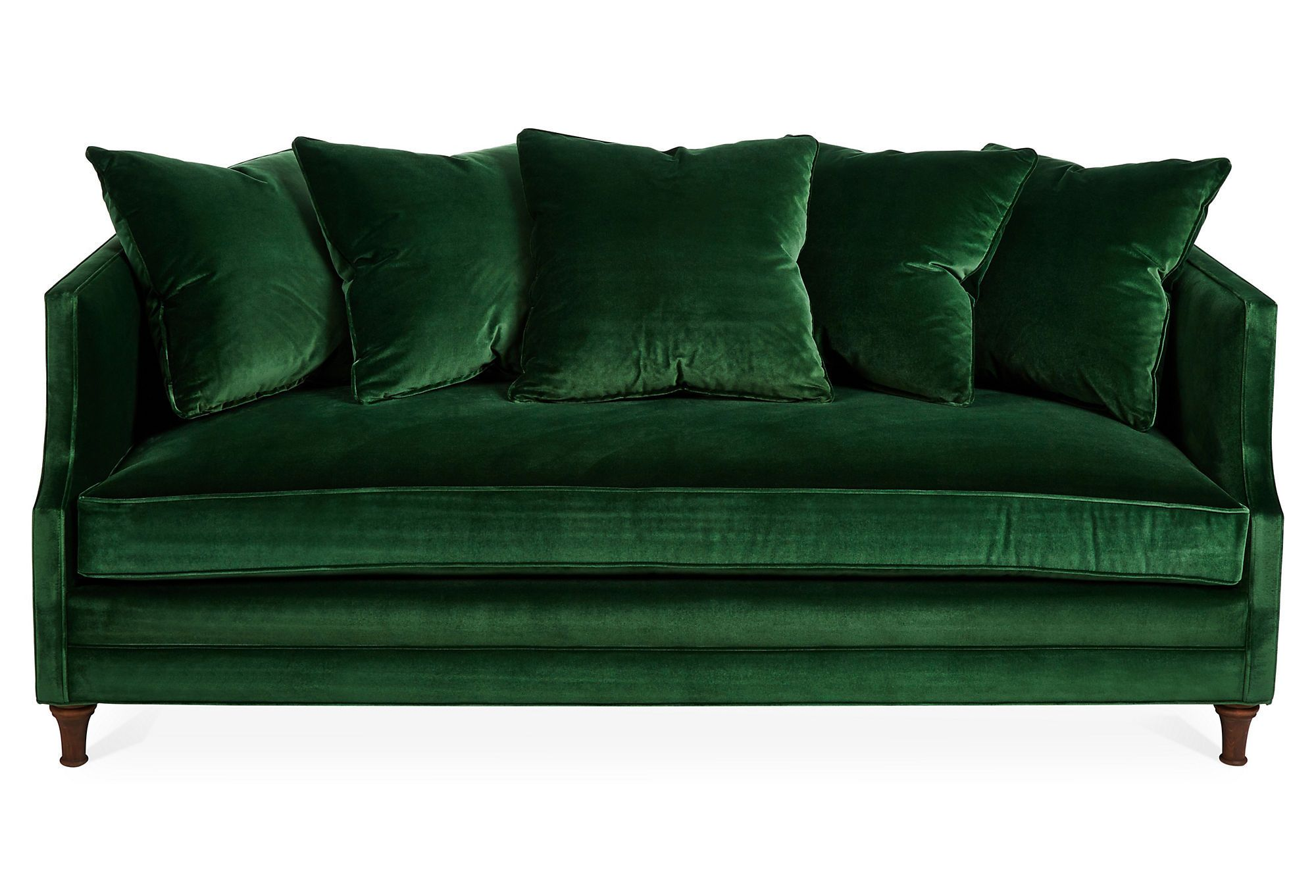Fresh find dumont velvet sofa