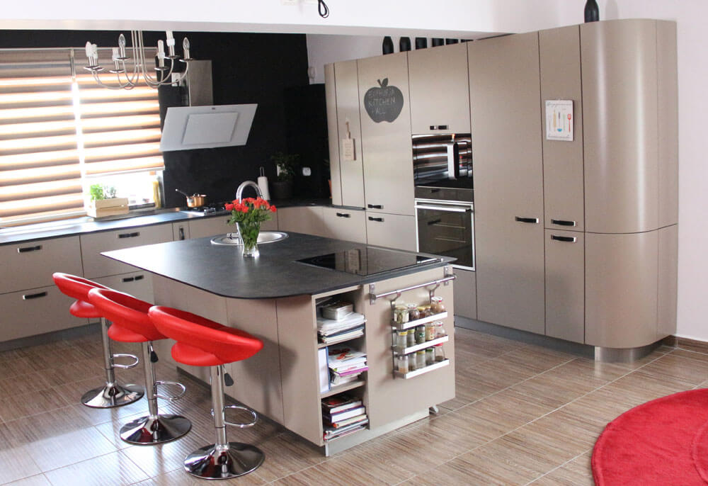 TV studio kitchen for Oana Grecea by Euphoria Kitchens Hall (1)