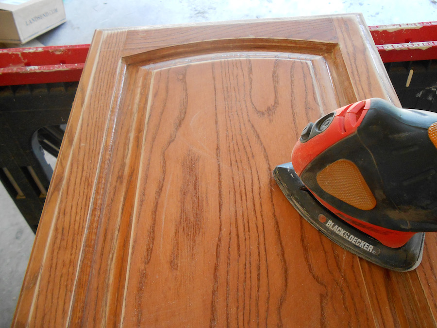 Sanding Kitchen Cabinets