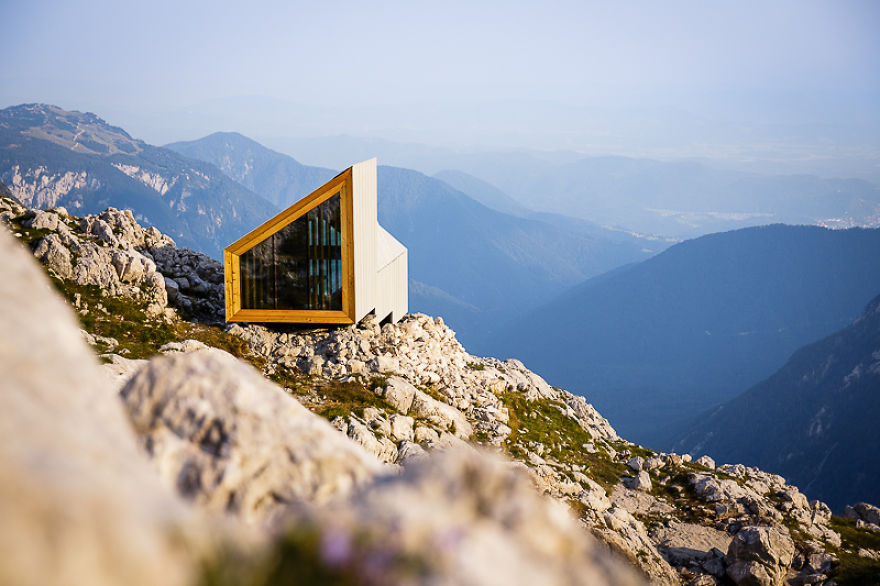 High In The Slovenian Alps A Shelter From The Storm