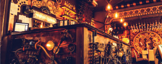 Enigma Steampunk Cafe in Romania Unleashes Kinetic Energy