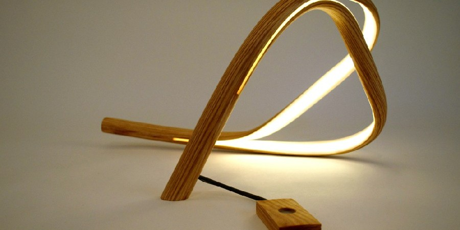 Designer Sculpts Wood Into Elegant Freeform Lighting