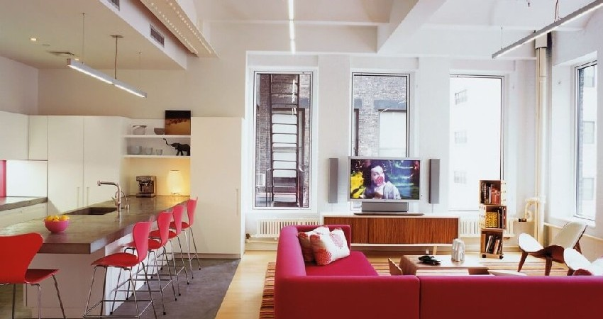 Tribeca Family Loft Projects Colorful, Cheerful Vibes