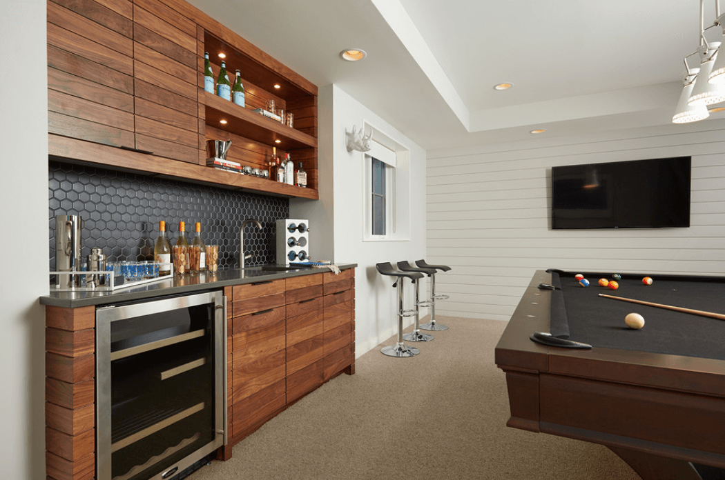 Home bar ideas freshome - Mini bar in house ...