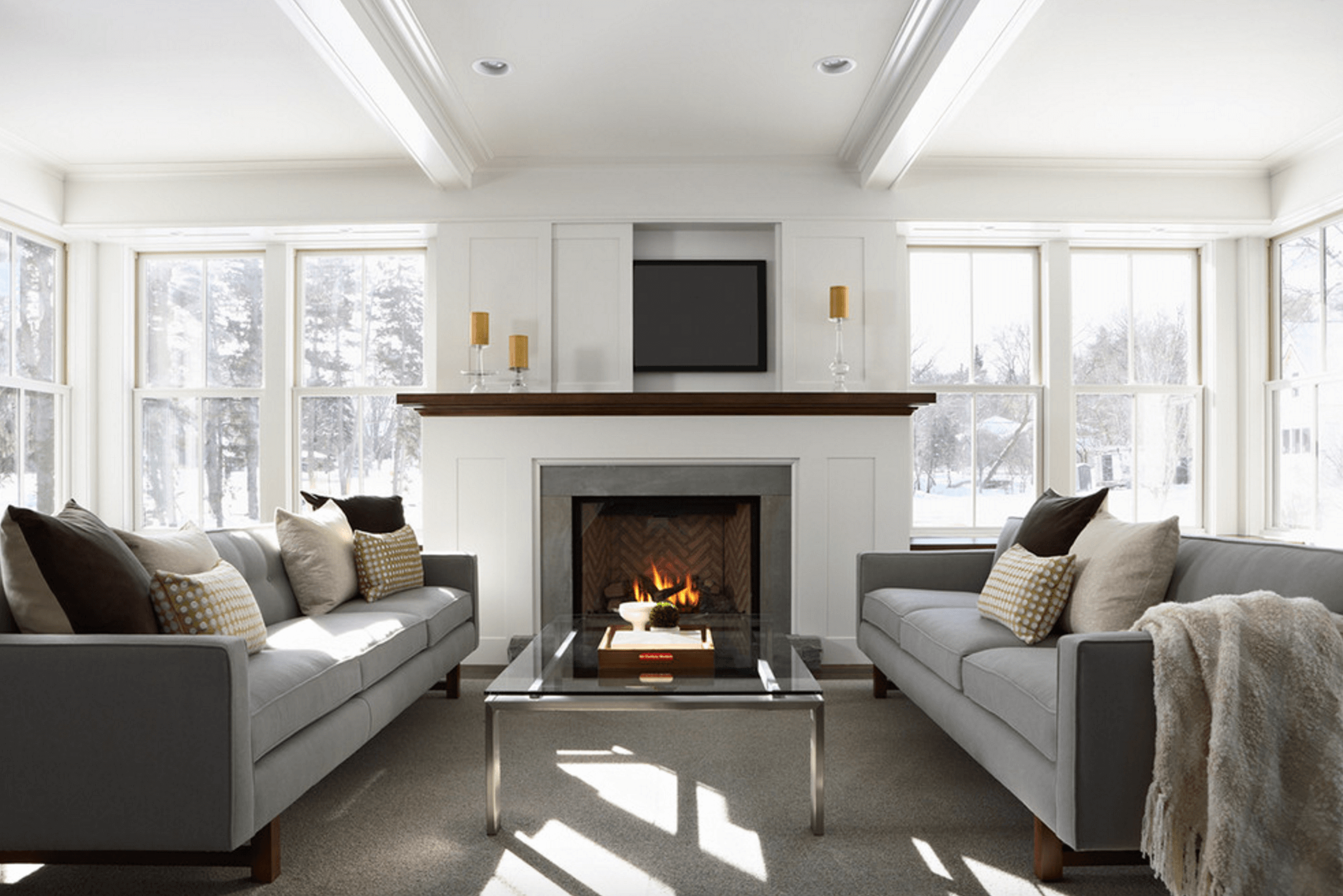 Contemporary fireplace mantel design ideas