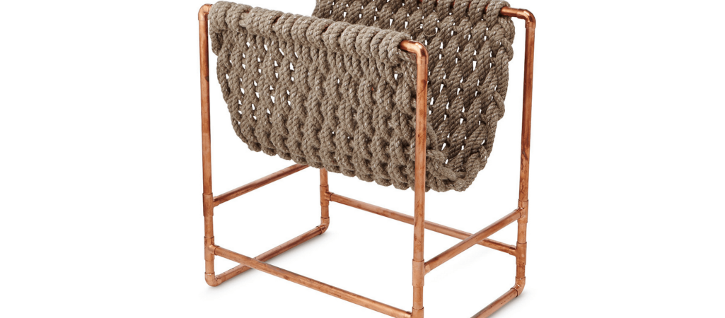 Fresh Find: Recycled Rope Magazine Rack