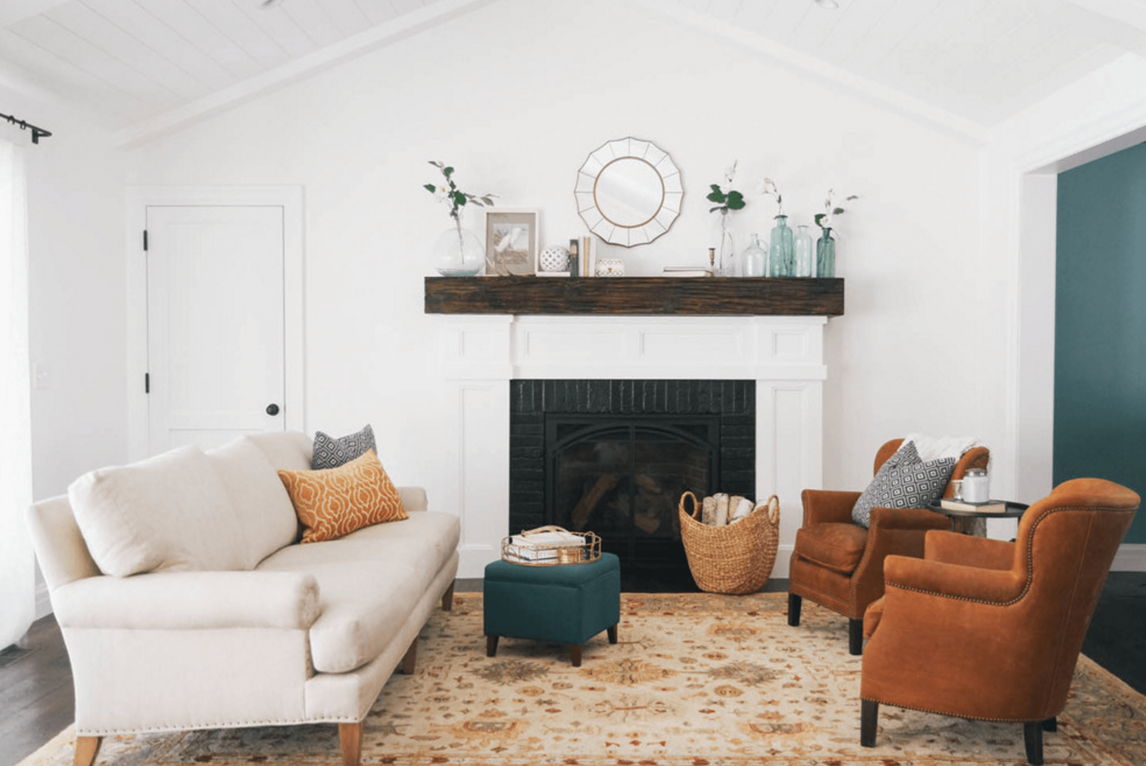 Living Room Mantel Decorating Ideas