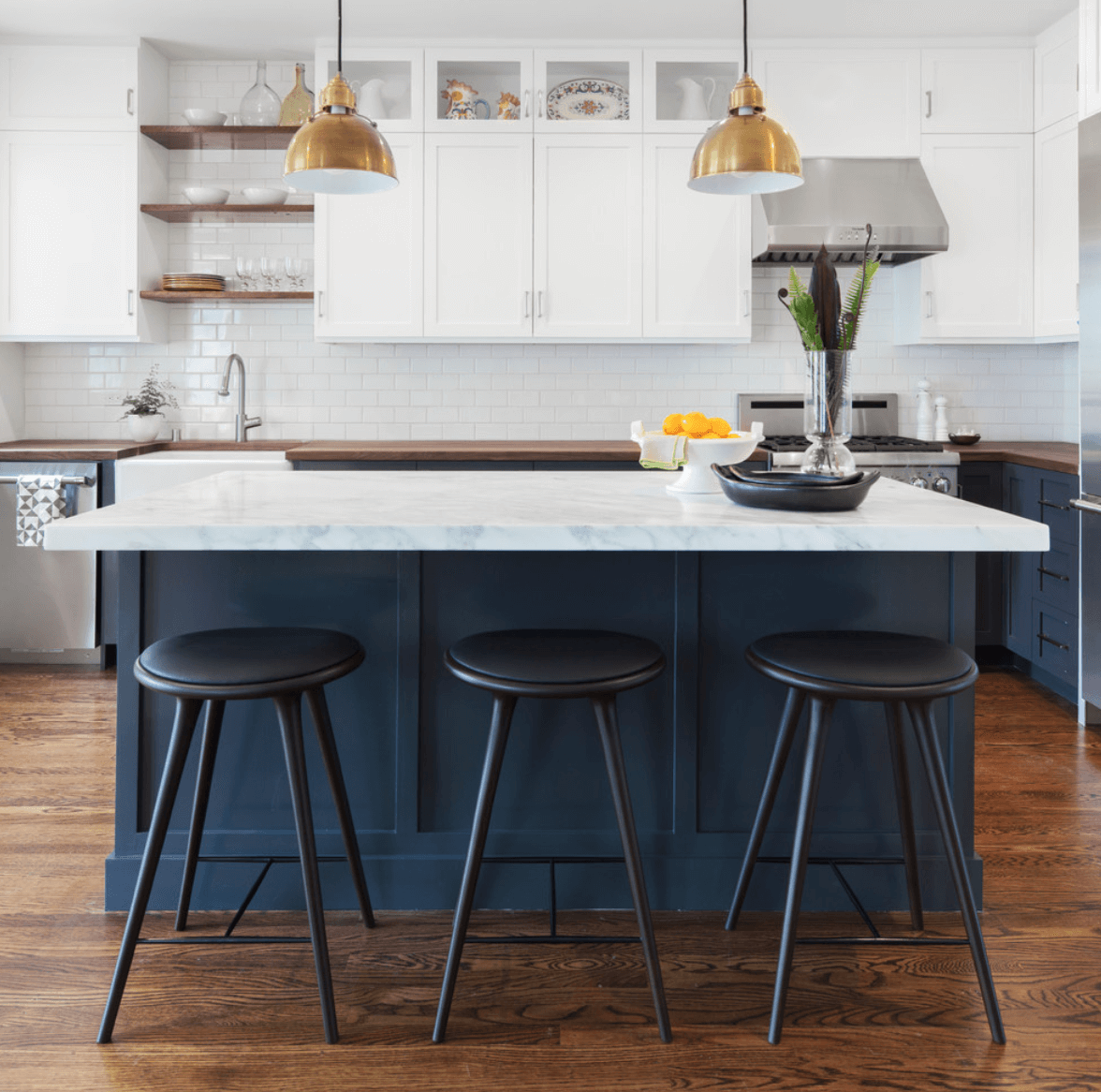 Collect this idea navy-blue-kitchen-cabinets