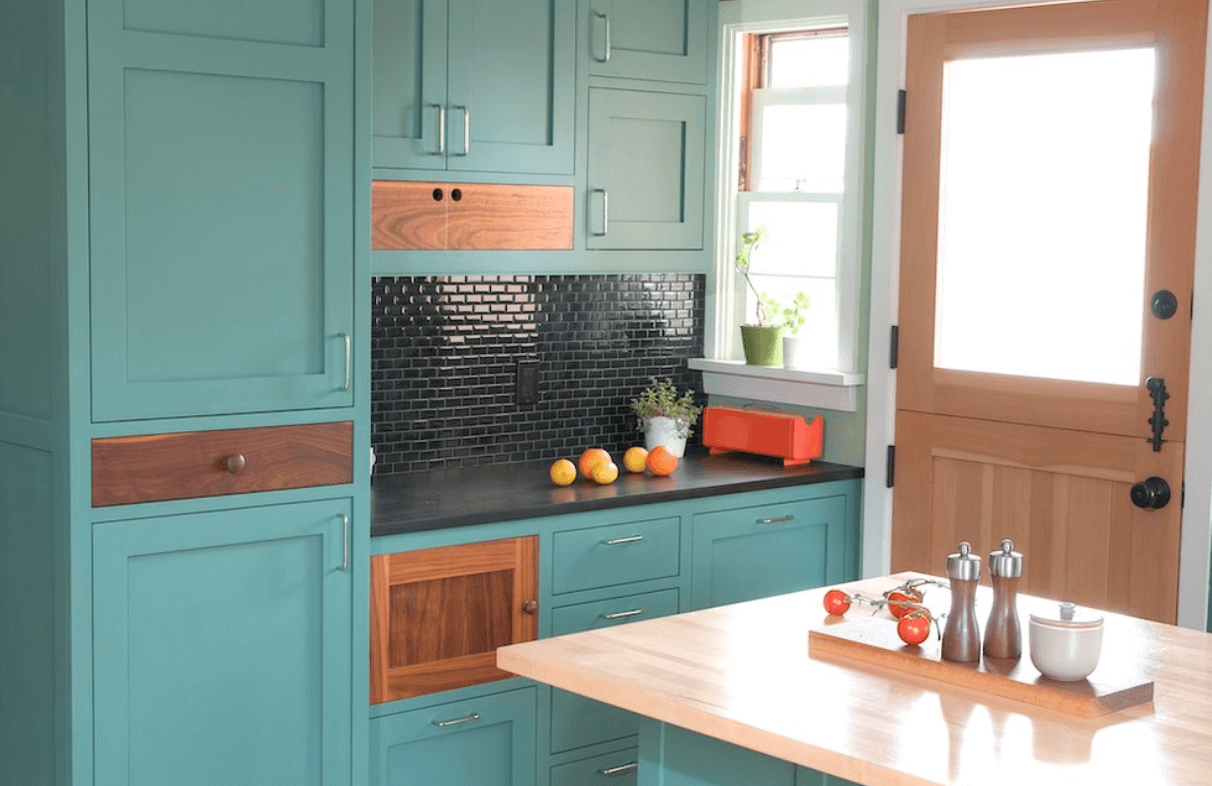 Collect This Idea Teal Blue Kitchen