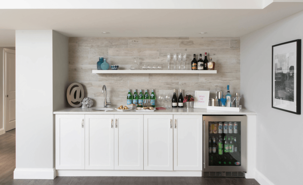 Bar Home Collect this idea white-basement-bar