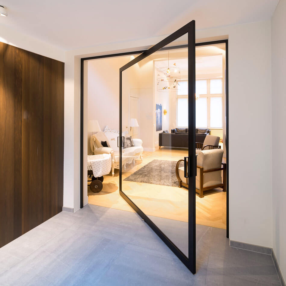Cool Innovative Pivoting Doors Double As Room Dividers Download Free Architecture Designs Estepponolmadebymaigaardcom