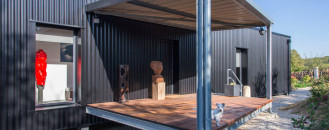 Artist's Shipping Container Home InFrench Countryside