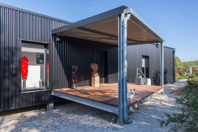 Artist's Shipping Container Home In French Countryside