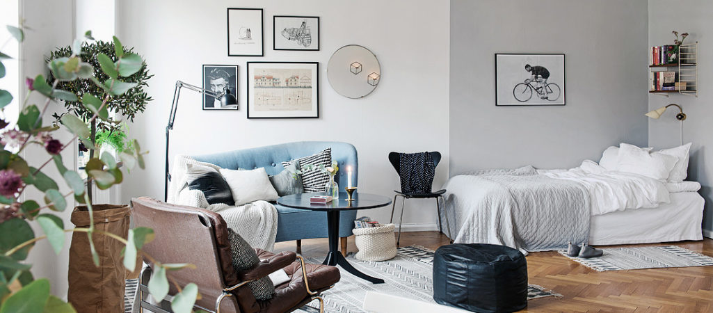 Stylish Swedish Studio Apartment Lives Large