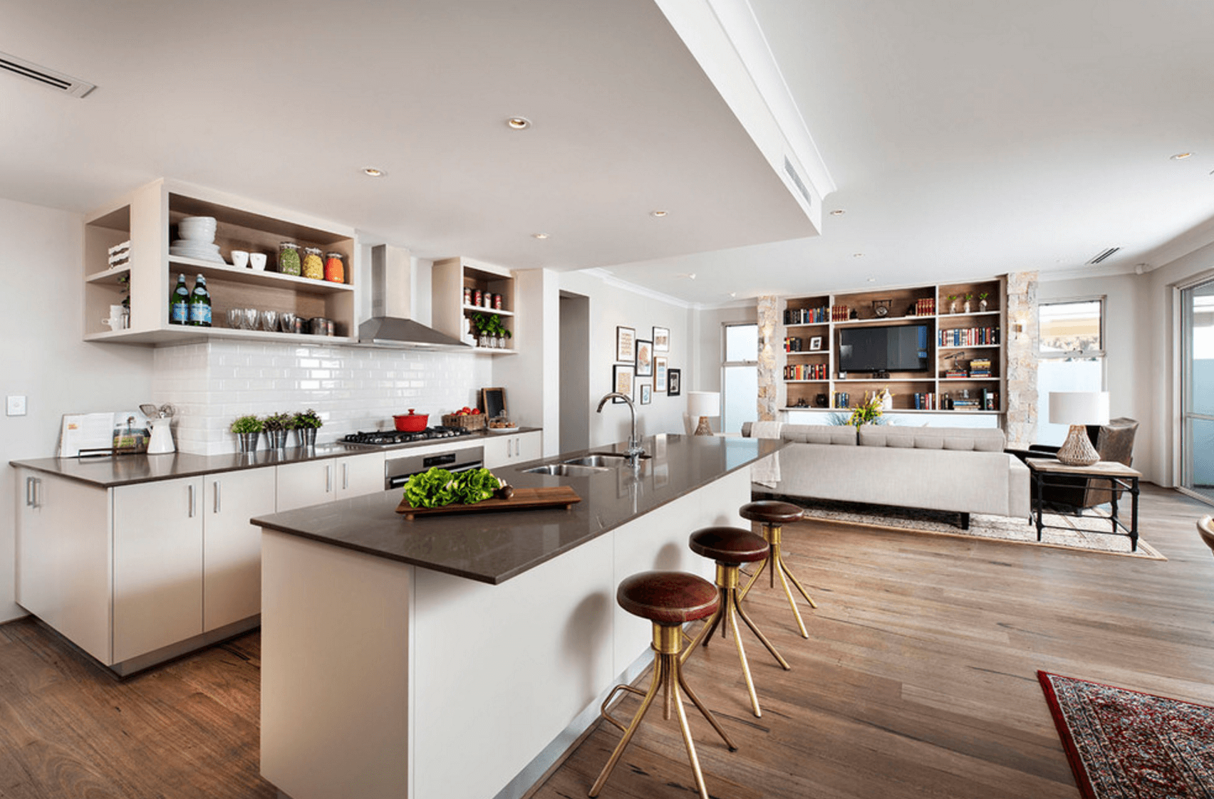 Open Floor Plans A Trend For Modern Living - Kitchen-design-interior-decorating-set