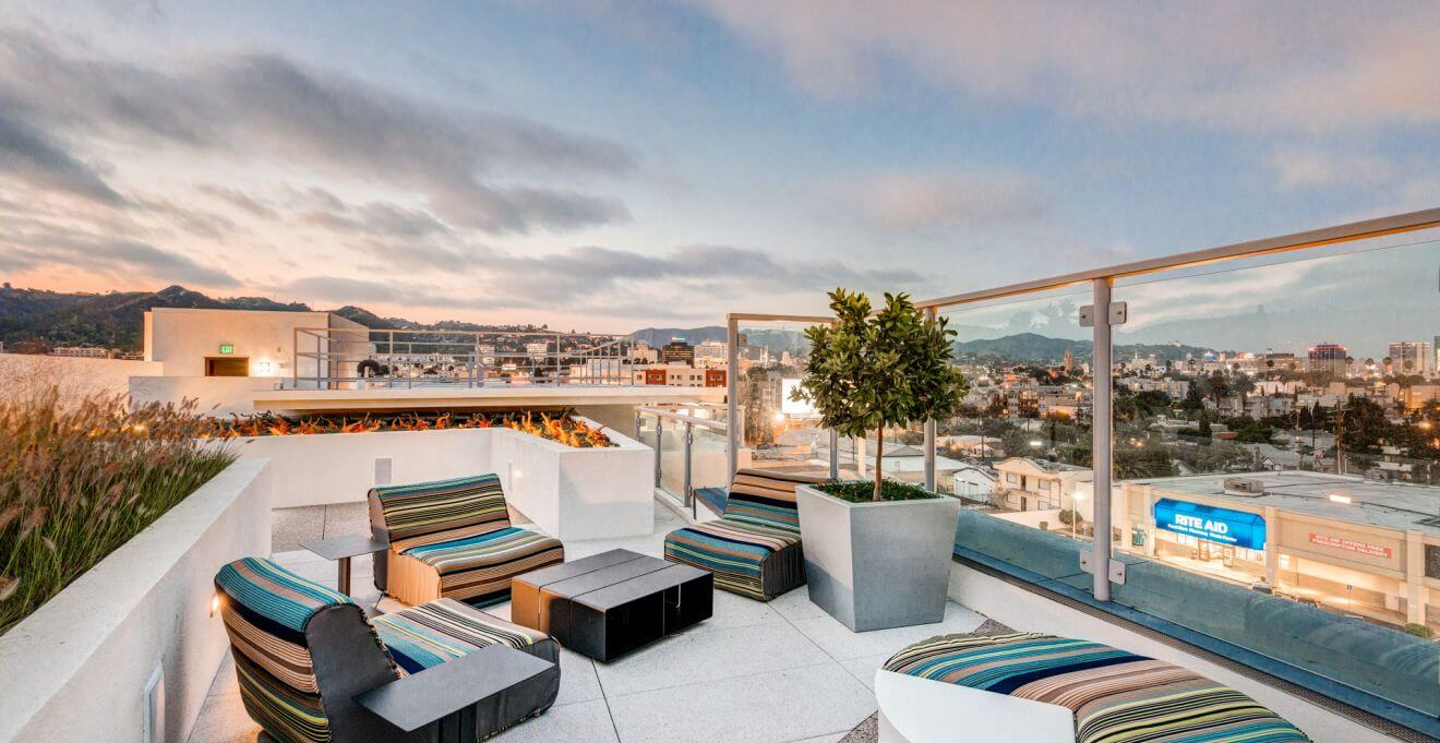 Rooftop Lounge At The Dylan In Hollywood