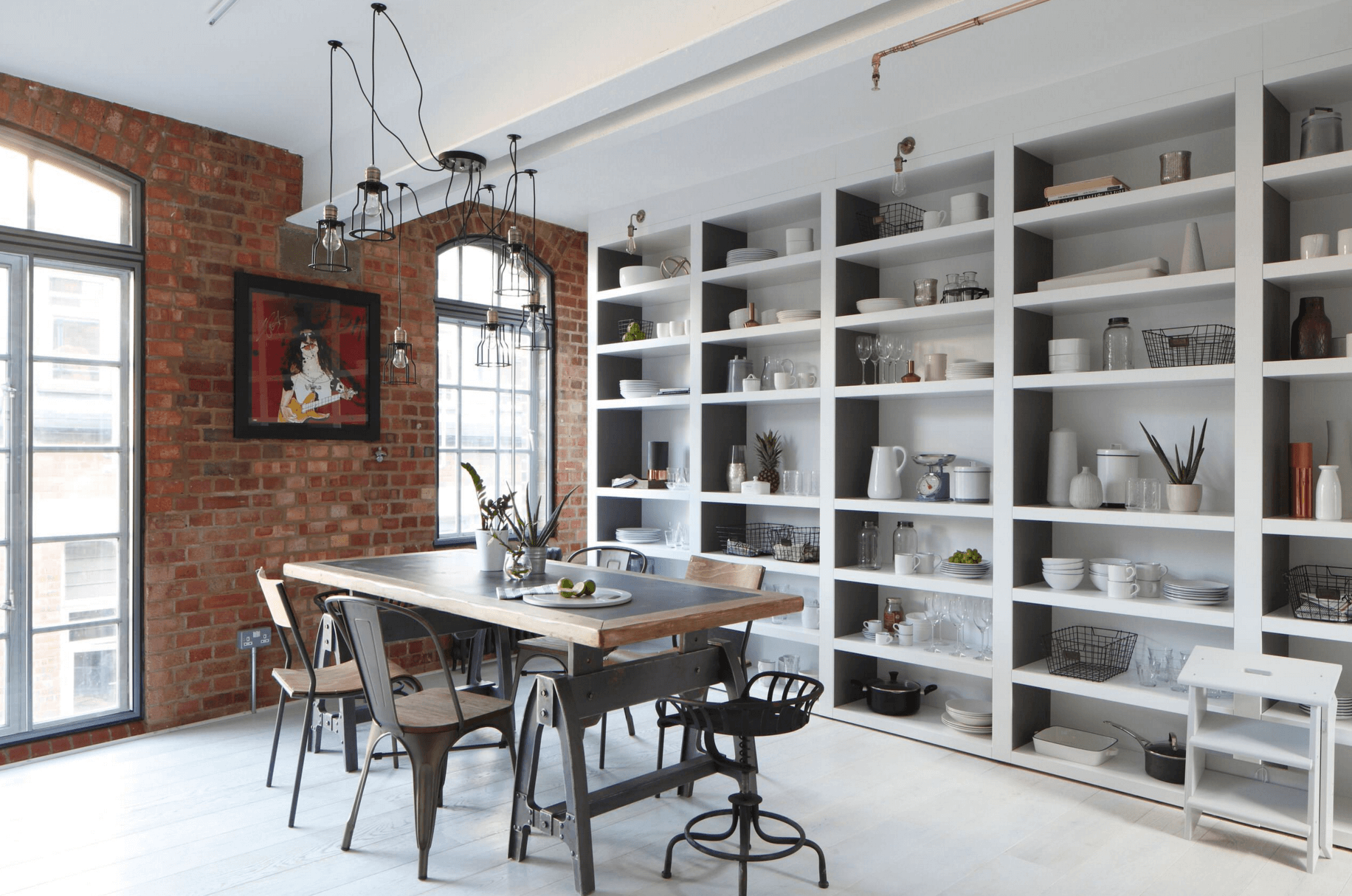 28 Creative Open Shelving Ideas - Freshome.com on office wall ideas, open kitchen sink ideas, open kitchen shelves ideas, open kitchen design ideas, bar wall ideas, pool wall ideas, vaulted ceiling wall ideas, entrance wall ideas, open kitchen layout ideas, open floor ideas, refrigerator wall ideas, tile floor wall ideas, open kitchen decorating, dining wall ideas, outdoor seating wall ideas, open cabinets ideas, open kitchen home ideas, living wall ideas, screened porch wall ideas, deck wall ideas,