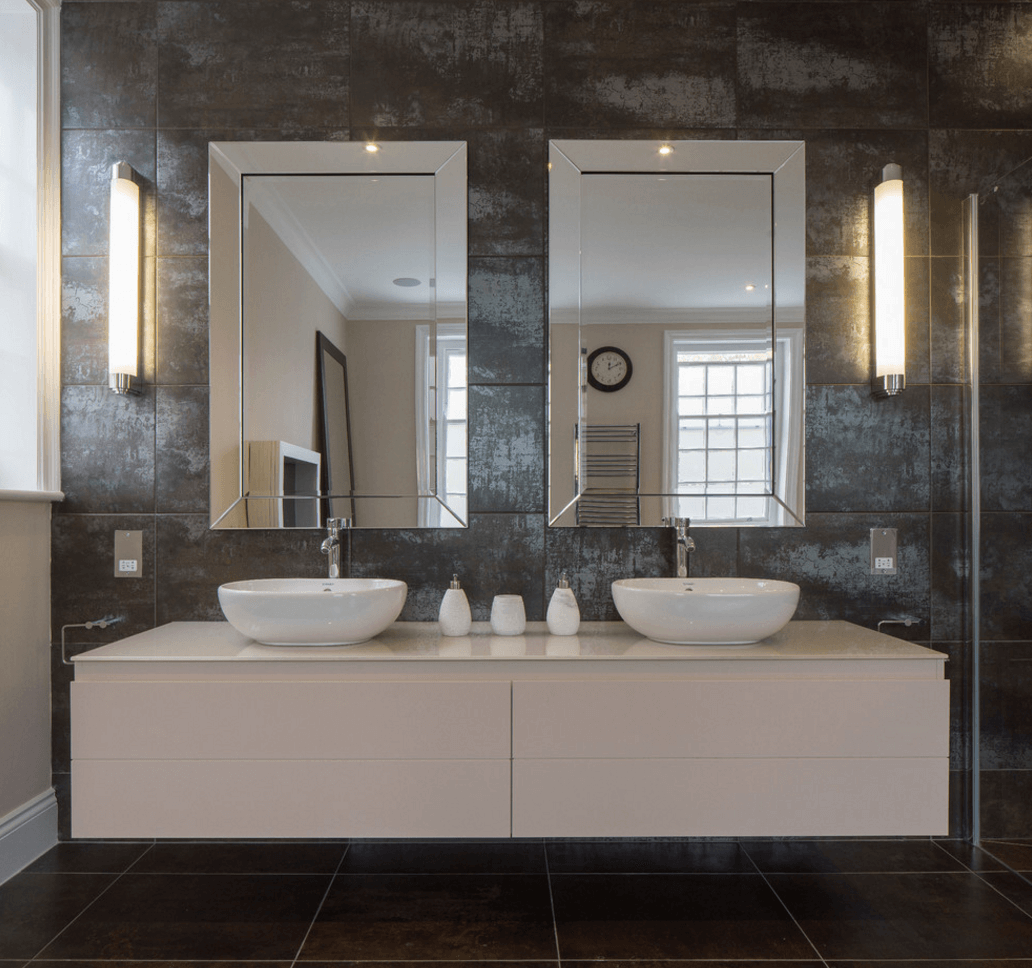 Collect This Idea Double Mirror Granite Bathroom