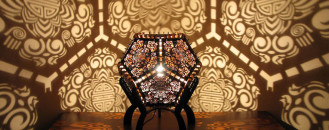 Laser-Cut Shadow Lamps Shine by Design