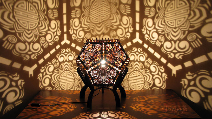 Laser Cut Shadow Lamps Shine By Design