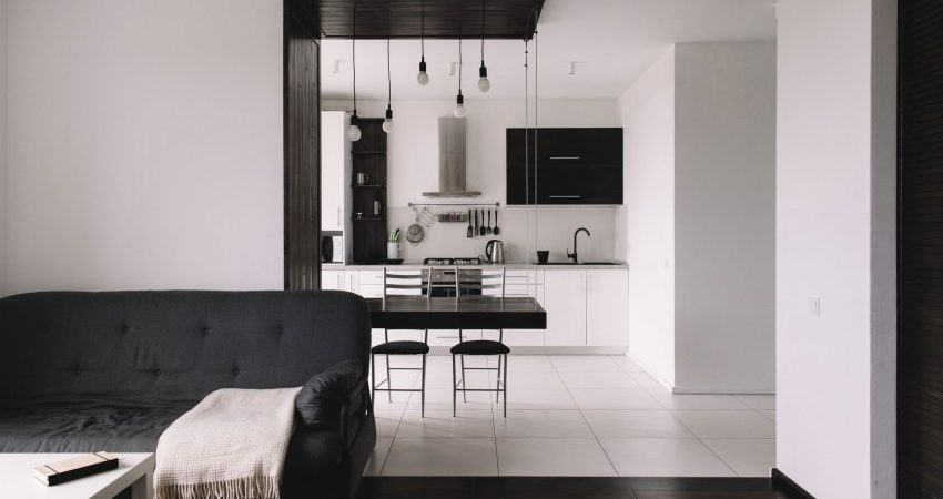High-Contrast Finishes Give Small Apartment Big Style