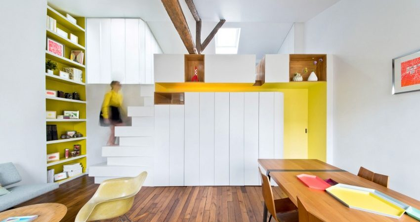 Colorful Apartment in Paris Suits Young Fashion Designer