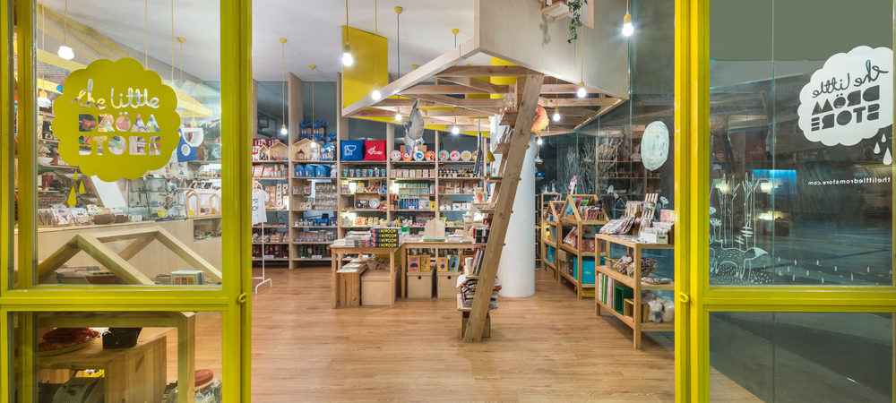 Creative Design Visually Unites Two Distinct Shops