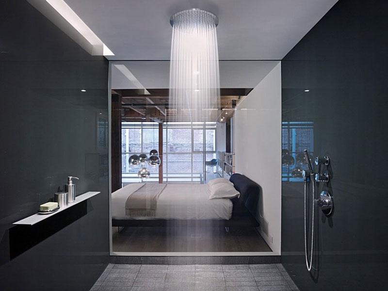30 Contemporary Shower Ideas - Freshome on cool industrial kitchen design, small bathroom shower tile design, double shower bathroom design, hgtv bathroom design, steel industrial kitchen interior design, open plan bathroom design, industrial bathroom design, japanese soaking tub bathroom design, bathroom steam shower room design,