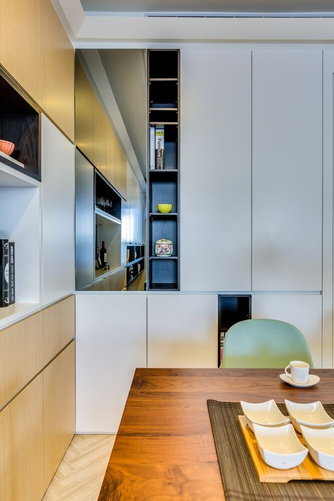 Creative Built-In Storage Maximizes Small Apartment