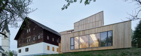 Green Belt Center in Austria Unites Old and New Construction