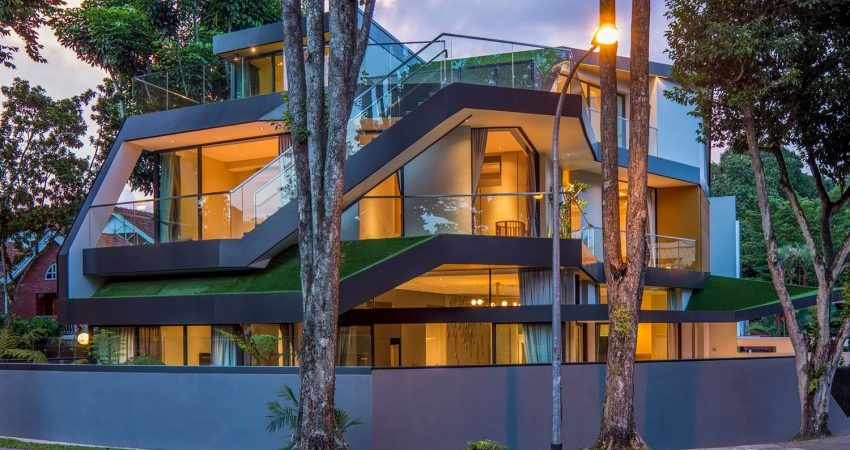 Green Residence in Singapore Grows Grass on Every Level