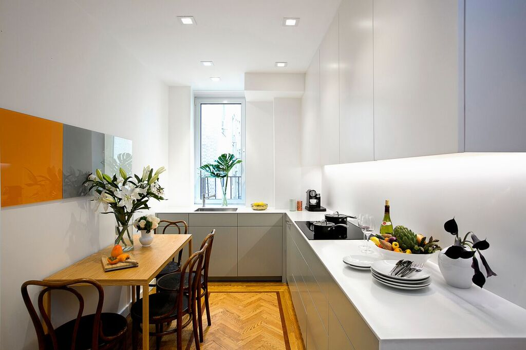 Updated Kitchen in New York Apartment Exhibits Sleek Design