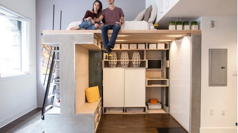 Custom Loft Maximizes Space in Tiny San Francisco Condo