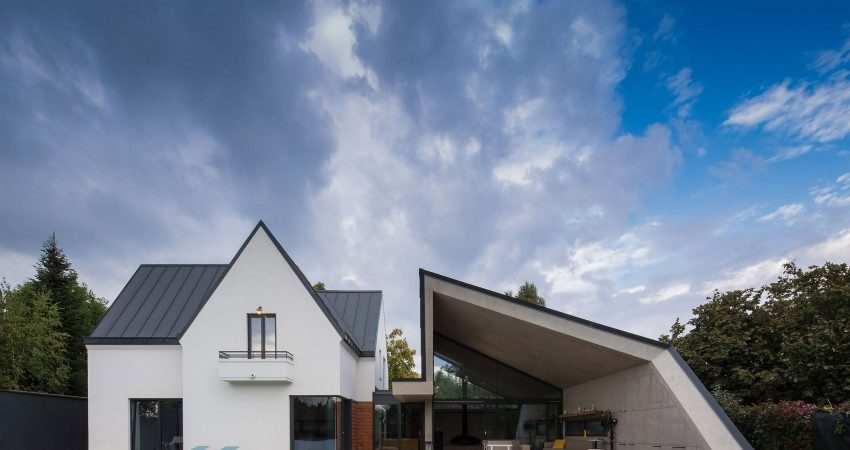 House in Romania Gets an Origami-Like Modern Extension