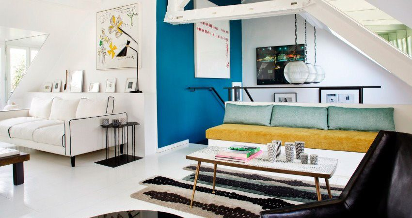 Colorful Accents Elevate Chic Paris Apartment
