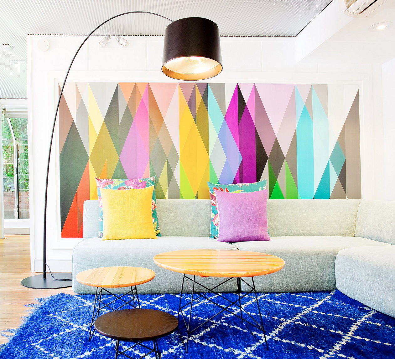 Painted Walls Colorful Room Design: 25 Dazzling Geometric Walls For The Modern Home
