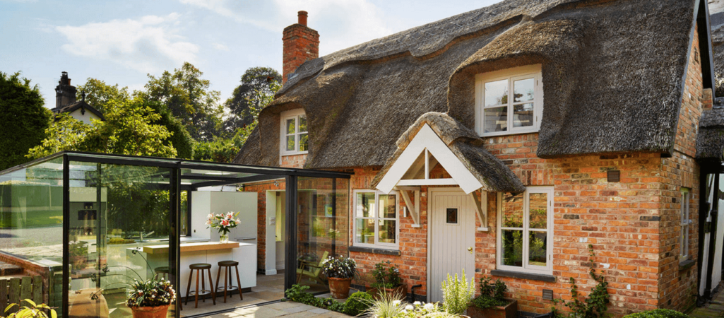 Quaint English Cottage Gets a Modern Kitchen Addition