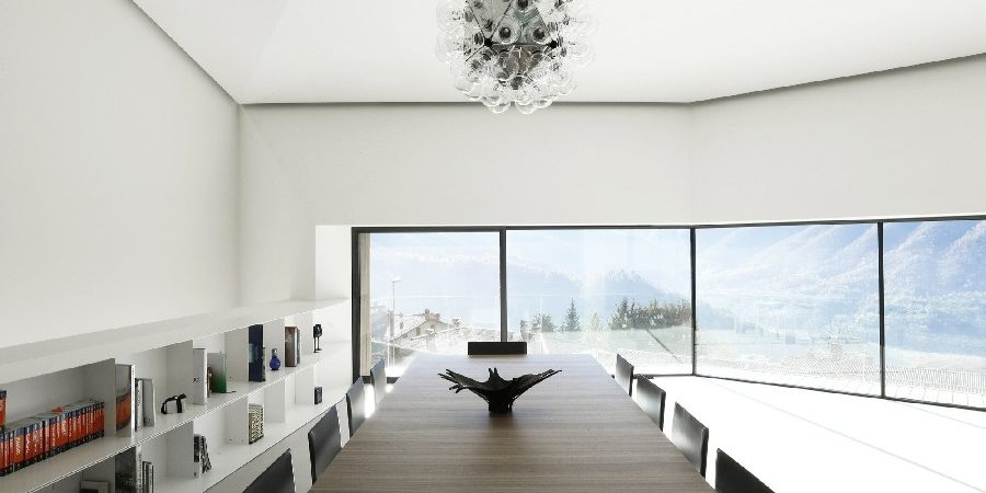 A Minimalist Villa High in the Italian Alps