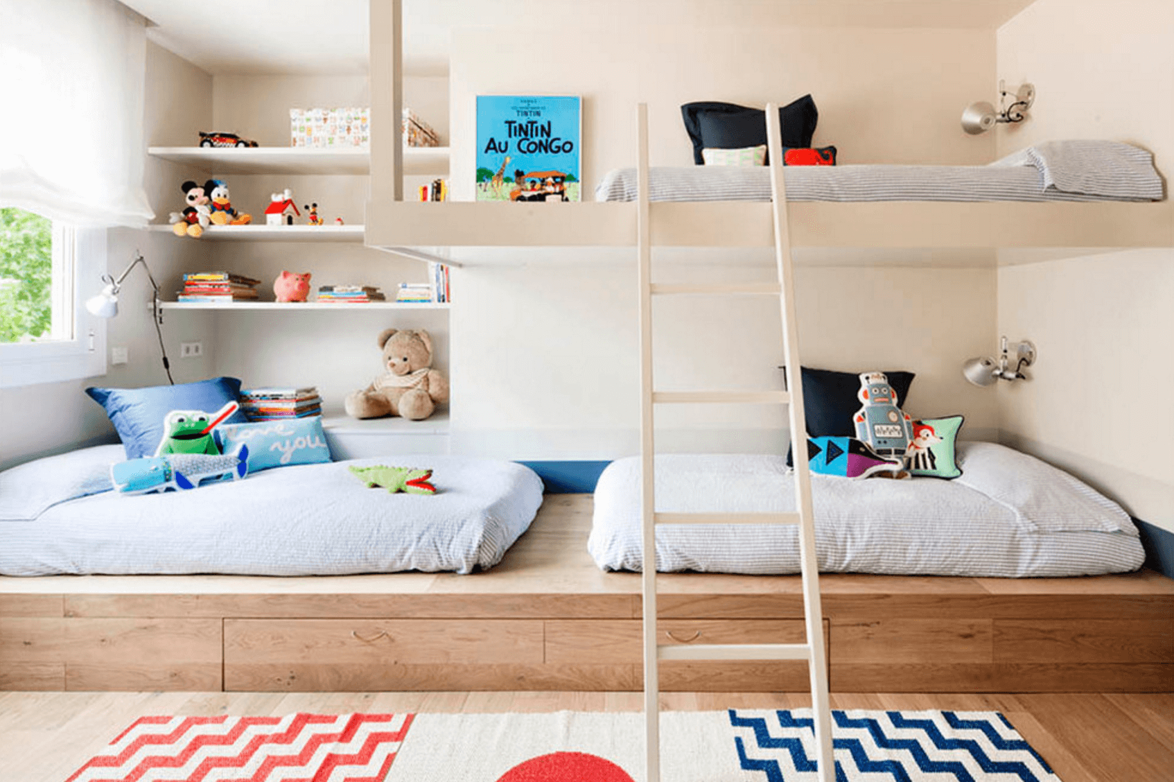 creative shared bedroom ideas for a modern kids room 12594 | freshome shared bedroom 1