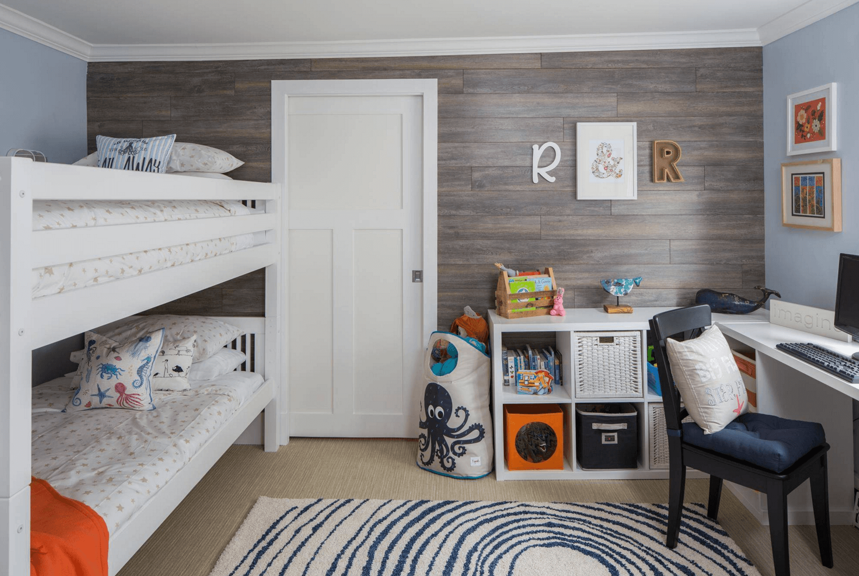7 Inspiring Kid Room Color Options For Your Little Ones: Creative Shared Bedroom Ideas For A Modern Kids' Room
