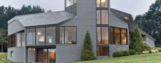 Mountain Home in Massachusetts Inspired by Fibonacci Spiral