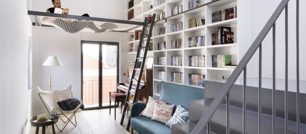 A Book Lover's Dream Home in Madrid