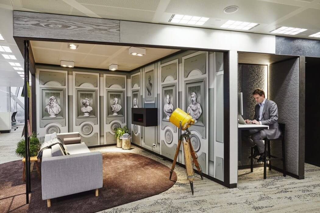 Single cubby work stations - modern office design Amsterdam