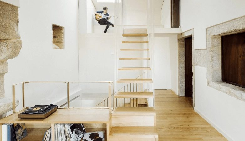 18th-Century Spanish House Features New Floating Staircase